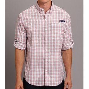 Columbia PFG Super Tamiami Long Sleeve Plaid Shirt